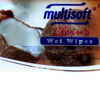 Multisoft Clean's Hindistan Cevizi Aromalı Islak Mendil