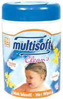 Multisoft Clean's Silindir Ambalajlı Islak Mendil 150 li Paket