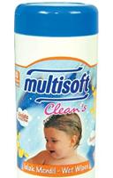 Multisoft Clean's Silindir Ambalajlı Islak Mendil 80 li Paket