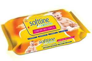 Softline Fresher Kapaklı Krem Katkılı Islak Havlu