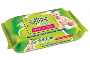 Softline Fresher Kapaklı Zeytinyağı Katkılı Islak Havlu