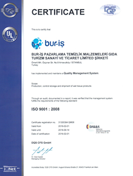 Bur-İş ISO 9001 2008 Sertifikası