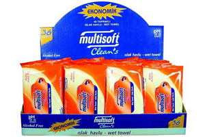 Multisoft Clean's Islak Mendil Display Karton Malzemesi