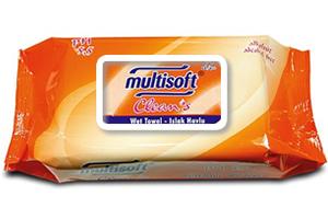Multisoft Clean's Kapaklı Islak Havlu 70 li Paket